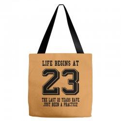 23rd birthday life begins at 23 Tote Bags | Artistshot