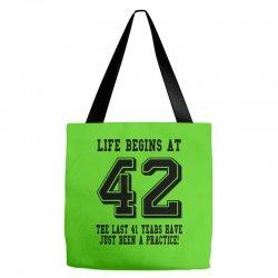42nd birthday life begins at 42 Tote Bags | Artistshot
