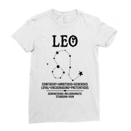 Leo Zodiac Sign Ladies Fitted T-shirt Designed By Tshiart