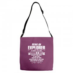 being an explorer Adjustable Strap Totes | Artistshot