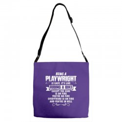 being a playwright Adjustable Strap Totes | Artistshot