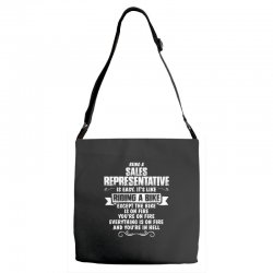 being a sales representative Adjustable Strap Totes | Artistshot