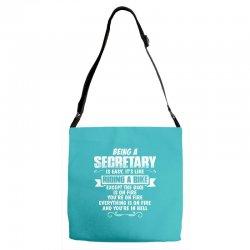 being a secretary Adjustable Strap Totes   Artistshot