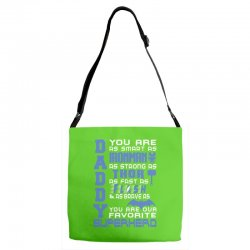 DADDY - Fathers Day - Gift for Dad Adjustable Strap Totes | Artistshot