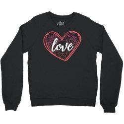 valentine's day mandala heart Crewneck Sweatshirt   Artistshot