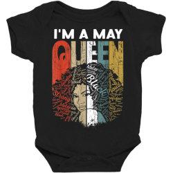 may queen curly afro woman Baby Bodysuit | Artistshot