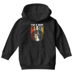may queen curly afro woman Youth Hoodie | Artistshot