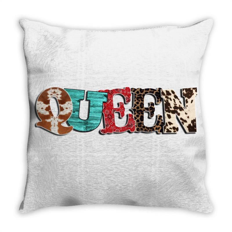 Western Queen Throw Pillow | Artistshot