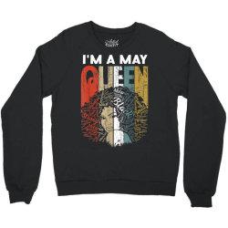 may queen curly afro woman Crewneck Sweatshirt | Artistshot