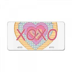 xoxo heart License Plate | Artistshot