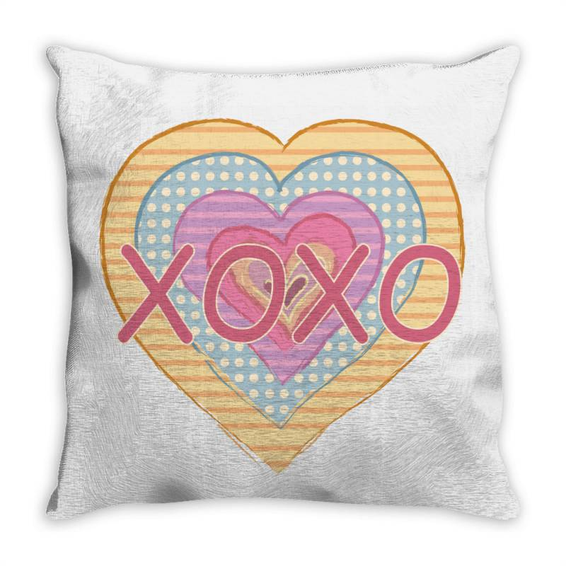 Xoxo Heart Throw Pillow | Artistshot