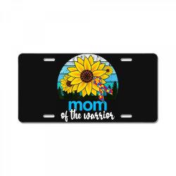 mom of the warrior autism License Plate | Artistshot