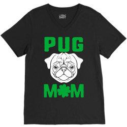 pug mom st patricks day V-Neck Tee | Artistshot