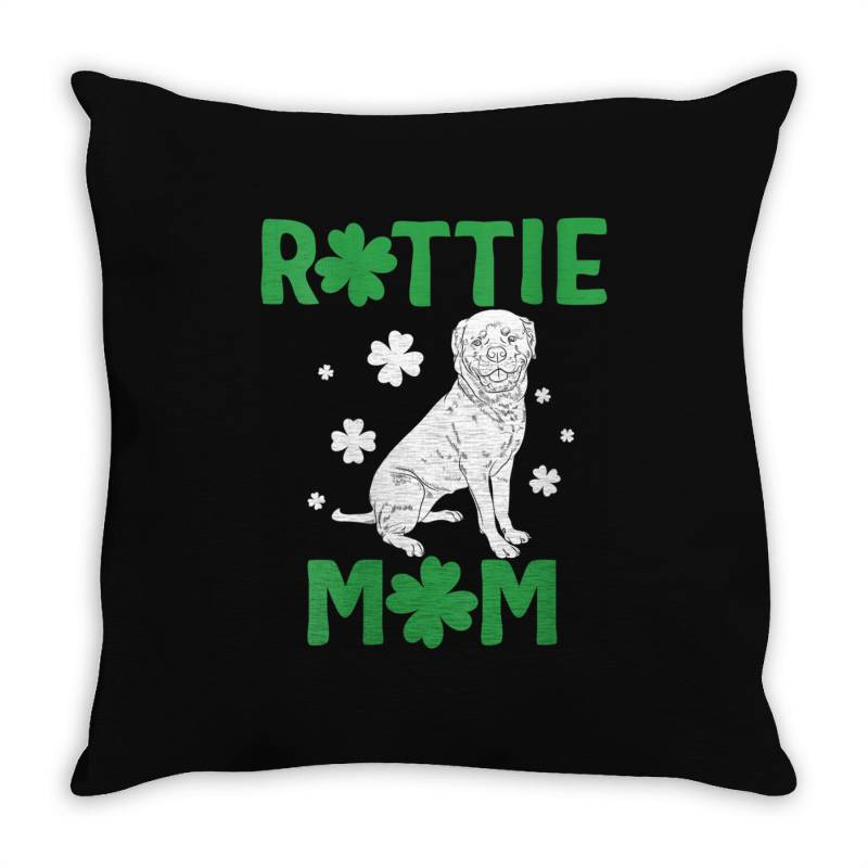 Womens Rottie Mom Throw Pillow | Artistshot
