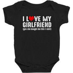 i love my girlfriend Baby Bodysuit | Artistshot