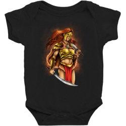 warrior queen Baby Bodysuit | Artistshot