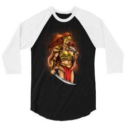 warrior queen 3/4 Sleeve Shirt   Artistshot