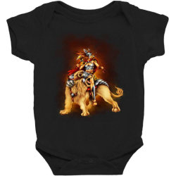 the lion rider Baby Bodysuit | Artistshot