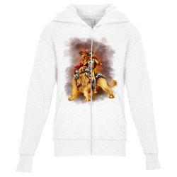 the lion rider Youth Zipper Hoodie | Artistshot