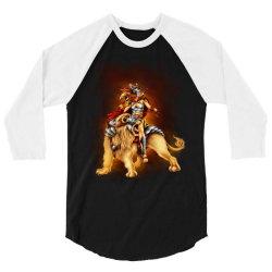 the lion rider 3/4 Sleeve Shirt | Artistshot