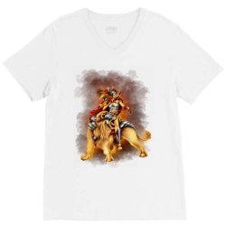 the lion rider V-Neck Tee | Artistshot
