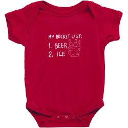 my bucket list Baby Bodysuit | Artistshot