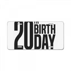20th Birthday License Plate | Artistshot