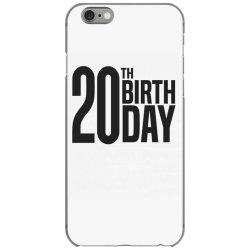 20th Birthday iPhone 6/6s Case | Artistshot