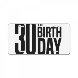 30th Birthday License Plate | Artistshot