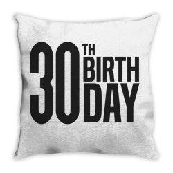 30th Birthday Throw Pillow | Artistshot
