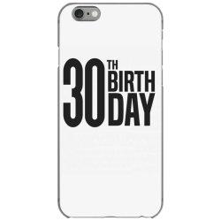 30th Birthday iPhone 6/6s Case | Artistshot