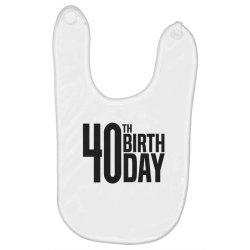 40th Birthday Baby Bibs | Artistshot