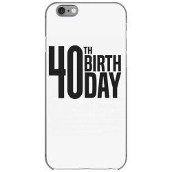40th Birthday iPhone 6/6s Case | Artistshot