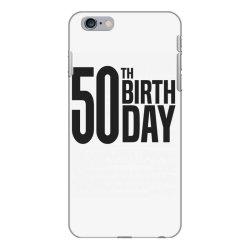 50th Birthday iPhone 6 Plus/6s Plus Case | Artistshot