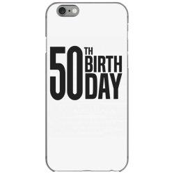 50th Birthday iPhone 6/6s Case | Artistshot