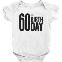 60th Birthday Baby Bodysuit   Artistshot