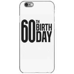 60th Birthday iPhone 6/6s Case | Artistshot