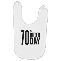 70th Birthday Baby Bibs | Artistshot