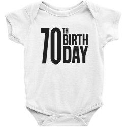 70th Birthday Baby Bodysuit | Artistshot