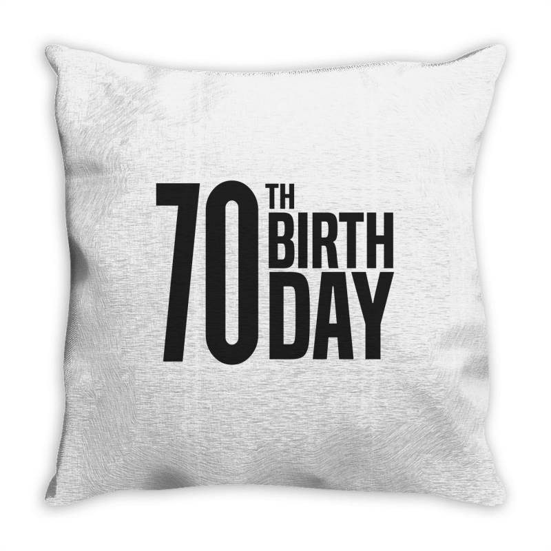 70th Birthday Throw Pillow | Artistshot