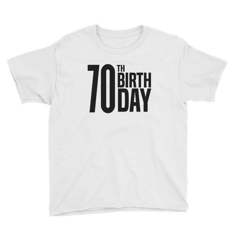 70th Birthday Youth Tee | Artistshot
