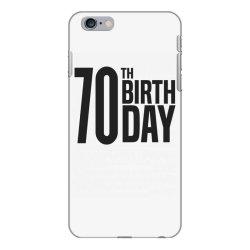 70th Birthday iPhone 6 Plus/6s Plus Case | Artistshot