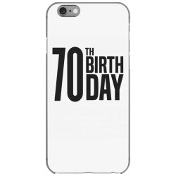 70th Birthday iPhone 6/6s Case | Artistshot