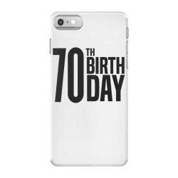 70th Birthday iPhone 7 Case | Artistshot