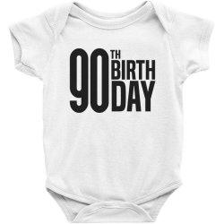 90th Birthday Baby Bodysuit | Artistshot