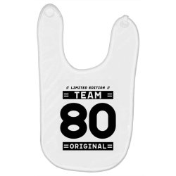 80 Year Old - 80th Birthday Funny Gift Baby Bibs   Artistshot