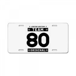 80 Year Old - 80th Birthday Funny Gift License Plate | Artistshot