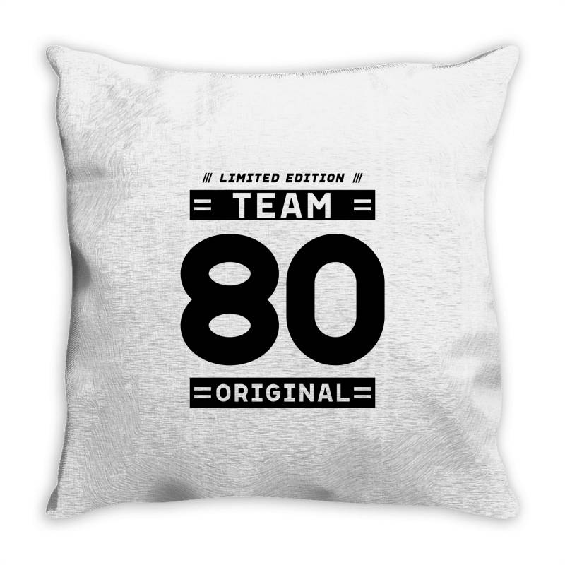 80 Year Old - 80th Birthday Funny Gift Throw Pillow | Artistshot
