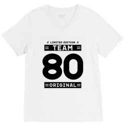 80 Year Old - 80th Birthday Funny Gift V-Neck Tee | Artistshot