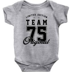 75 Year Old - 75th Birthday Funny Gift Baby Bodysuit   Artistshot
